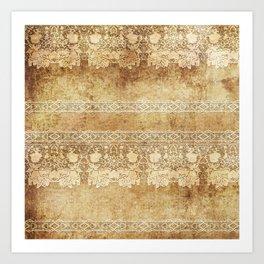 Vintage. The old lace. Vintage fabric . Art Print