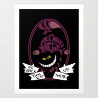 cheshire cat Art Prints featuring Cheshire by Nados