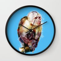 monkey island Wall Clocks featuring Monkey by beart24
