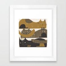 TRIPLE DECKER Framed Art Print
