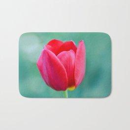 Pink Tulip, Spring Garden Flower Bath Mat