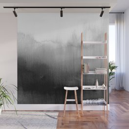 Modern Black and White Watercolor Gradient Wall Mural