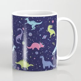 Dinosaurs in Space Coffee Mug