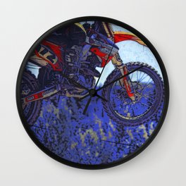 """Born to Fly!"" Motocross Racer Wall Clock"