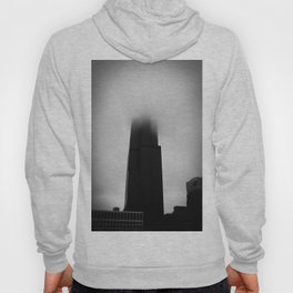 Sears Tower in Fog Chicago Black and White Photo Hoody