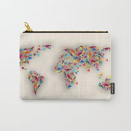 map dinosaur Carry-All Pouch