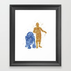 C3PO and R2D2 Star . Wars Framed Art Print