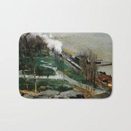 "George Wesley Bellows ""Rain on the River"" Bath Mat"