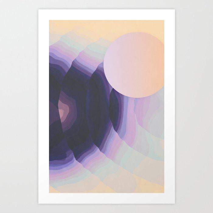 Ultraviolet Impulses Art Print