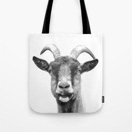 Black and White Goat Tote Bag