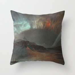 Frederic Edwin Church, Aurora Borealis, 1865 Throw Pillow