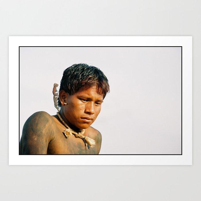 A'uwe Uptabi (True Xavante) Indigenous Warrior Art Print