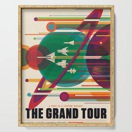 NASA Retro Space Travel Poster #5 Serving Tray