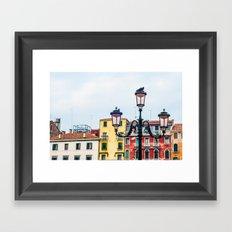 Venice Lamp Framed Art Print