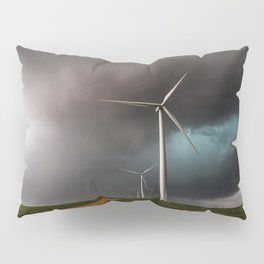 Wind Farm - Renewable Energy on the Texas Plains Pillow Sham