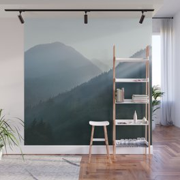 Hazy Days in Mountain Ranges Wall Mural