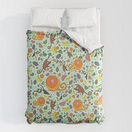 Cute Monkeys and Fruit Comforters
