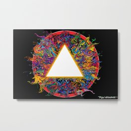 Aesthetics and the Energy of Flow Metal Print