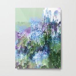 Wild Nature Glitch - Blue, Green, Ultra Violet #nature #homedecor Metal Print