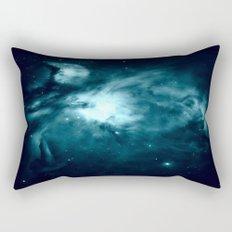 Orion nebula : Teal Galaxy Rectangular Pillow