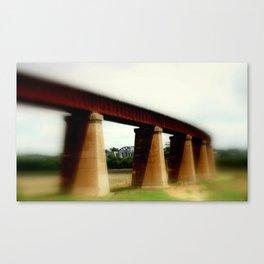 Curved Rail-line Canvas Print