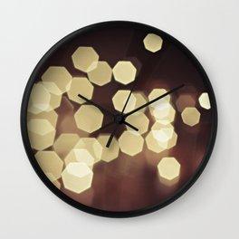 Glitzy Gold Wall Clock