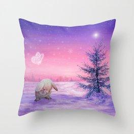 Look Up Bunny! Throw Pillow