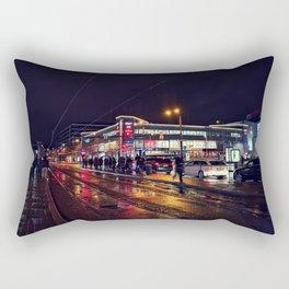 Rainy City Nights Rectangular Pillow