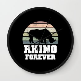 Rhino Forever Wildlife Conservation Gift Wall Clock