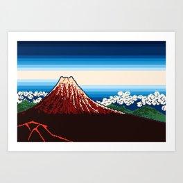 Rainstorm Below the Summit Art Print
