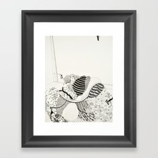 Once I thought the folds of a dress were the same as grey matter Framed Art Print