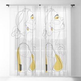 Color Beauty Sheer Curtain