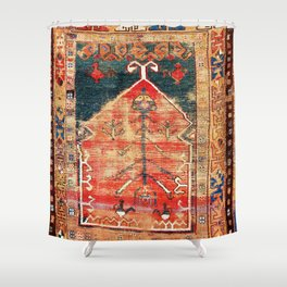 Konya Central Anatolian Niche Rug Print Shower Curtain