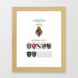 KING RICHARD III - Roll of arms of the Knights of the Garter installed during his reign Framed Art Print