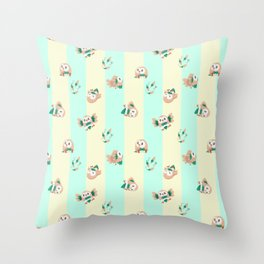 Rowlets Throw Pillow