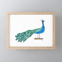 The Peacock Framed Mini Art Print