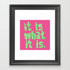 what it is pink square Framed Art Print