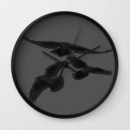 Crows - by Rui Guerreiro Wall Clock
