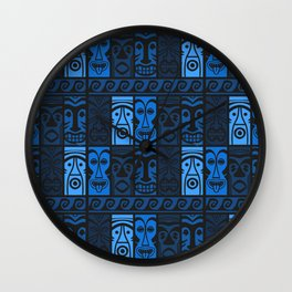 Blue Tikis! Wall Clock