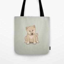 Shiba Inu Dog Illustration Tote Bag