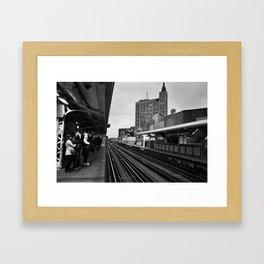 The Blue Line Framed Art Print