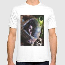 alien ripley painting T-shirt