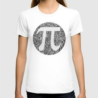 pi T-shirts featuring PI by Nora
