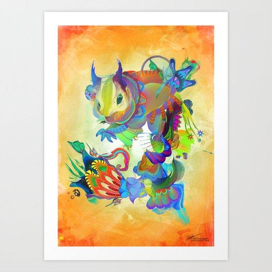 Locus Dahlia Art Print