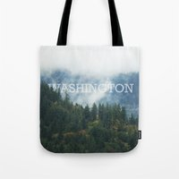 washington Tote Bags featuring WASHINGTON by shannonfinnphotography