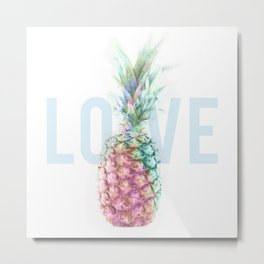Pineapple Love Metal Print