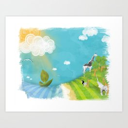A Sunny Imagination Art Print