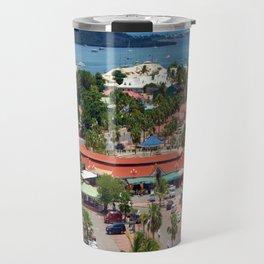 Colorful island and city scenes of Sint Maarten - St. Martin Travel Mug