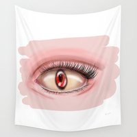 demon Wall Tapestries featuring demon eye by Miss No!