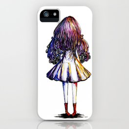 Faceless Girl and Red Doc iPhone Case